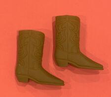 Vintage 1970s Barbie Ken Light Brown Squishy Western Boots Taiwan