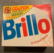 1960s Brillo Soap Steel Wool Pad NOS Box Unopened NOS