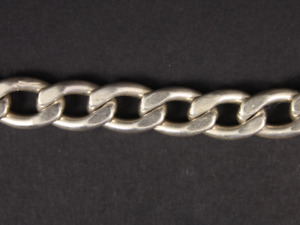 """Heavy Curb Chain Bracelet Sterling Silver Gents Thick Chunky 7.75"""" 31.6g Kb12"""