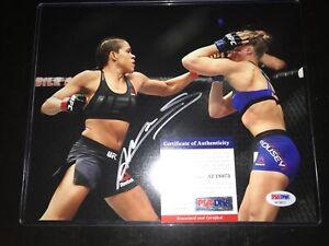 Amanda Nunes Signed 8x10 Photo PSA COA UFC Champion Autograph Ronda Rousey Sexy