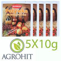 5 x 10g Hefenährsalz Hefenahrung für Reinzuchthefe Nährsalz Weinherstellung