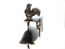 Schöne eiserne Türglocke  Landhaus Glocke mit Hahn Eisen Haustürglocke Gusseisen