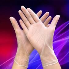 100pcs Transparent Food Service PVC Gloves Safety Work Gloves S/M/L/XL 240MM