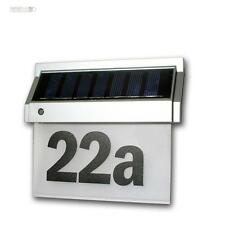 Solar Hausnummer mit LEDs Hausnummerleuchte / Hausnummernleuchte LED Beleuchtung