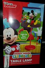 NEW DISNEY JUNIOR MICKEY MOUSE CLUB HOUSE  STICK TABLE LAMP.