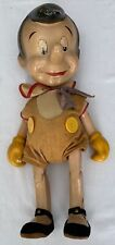 "WALT DISNEY  PINOCCHIO  LARGE KNICKERBOCKER DOLL   C. 1940  APPROX 16"" TALL"