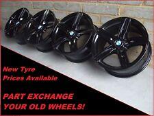 "2355 Genuine 17"" BMW 379 1 Series F20 F21 2 3 Series Black Alloy Wheels"