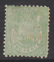 Fiji - 1897, 2d Dull Green stamp - Perf 11 x 11 3/4 - M/M - SG 102