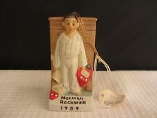 Norman Rockwell Vintage 1989 Boy In Pajamas Ornament (916N)