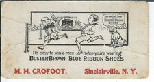 AX-294 NY, Sinclairville M.H. Crofoot Buster Brown Blue Ribbon Shoes Ink Blotter
