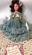 7.5� Vintage Mayfair Bridal Party Dolls A-1 Bridesmaid Blue Bisque W/ Box & Book