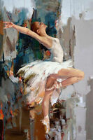 CHENPAT161 modern fancy ballet girl art oil painting 100% hand-painted on canvas