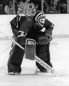 Ken Dryden Photograph 8x10 Montreal Canadiens Target Mask Vintage Mask B&W Photo