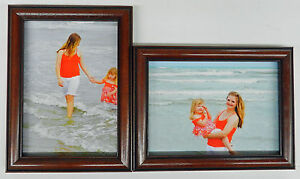 3.5x5 4x5 4x6 5x7 8x10 Matte Black Wood Picture Photo Frame Double Hinged New