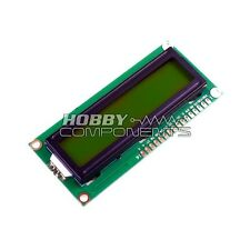 HOBBY COMPONENTS UK 1602 16x2 Parallel LCD Module (Yellow Backlight)