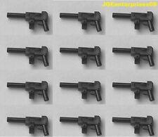 Lego X 12 Nuevo Minifig Tommy Pistolas Negro Batman ejército Soldado Mocs aduanera