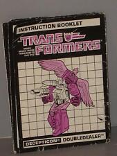 G1 TRANSFORMER POWERMASTER DOUBLEDEALER INSTRUCTION MANUAL LOT # 1