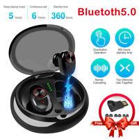 Wireless Bluetooth 5.0 Earbuds True Bass Sport Stereo In-Ear Earphone for Iphone