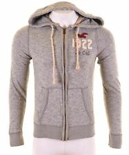 HOLLISTER Mens Hoodie Sweater Medium Grey Cotton  GH18