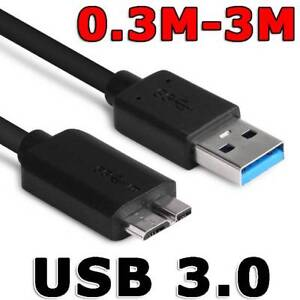 SuperSpeed USB 3.0 Micro B Hard Drive Cable For Seagate WD Toshiba PC Camera