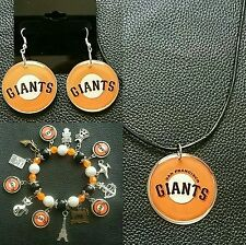 MLB San Francisco Giants necklace, bracelet and earring set