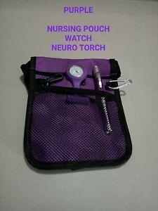 Medical nurse Kit: nursing pouch + Neuro torch + nurse watch  physio aged care