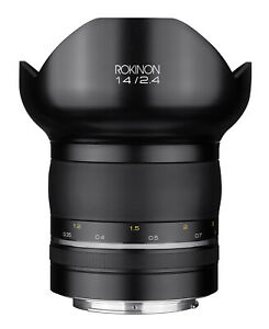 Rokinon 14mm F2.4 SP Ultra Wide Angle Lens (Canon EF with Automatic Chip)