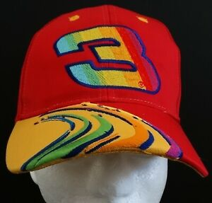 2000 Dale Earnhardt, Sr. #3 GMGWSP RED Peter Max Adult Snapback Hat Cap NWT