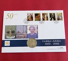 ISLE OF MAN 2002 QEII GOLDEN JUBILEE PROOFLIKE 1 CROWN - COIN COVER