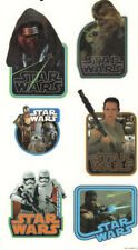 STAR WARS movie wall stickers 6 decals Rey Stormtroopers Kylo Ren C3P0 R2D2