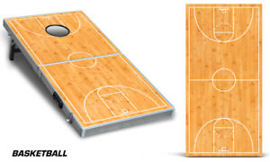 Cornhole Bean Toss Game Corn Hole Vinyl Wrap Decal Basketball 2-Pack