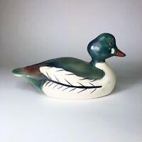 "Vintage Weiss Ceramic Duck Decoy Made in Brazil  12.5"" x 7"" x 5"""