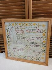 New listing Antique Embroidery Sampler 1899 Civil War Charles E Whitney 154th Wny Army