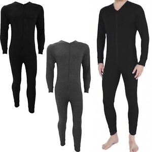 MENS THERMAL 1ONESIE ALL IN ONE UNDERWEAR SET BASELAYER ZIP BODY SUIT SKI S XXL
