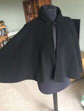 Vintage Black Pure Wool Cape