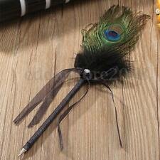 Peacock Feather Plume Wedding Party Guest Book Signing Writing Roller Ball Pen