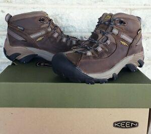 Keen Womens Targhee II Mid Waterproof Hiking Boots Size 7.5 Slate Black 1004114