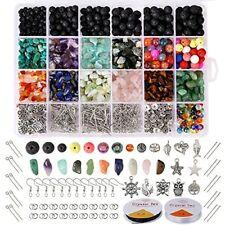 Hongyans 1068 Pièces Kit de Fabrication de Bijoux Bricolage Perles de Pierre de
