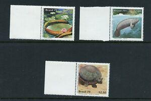 W795 Brésil 1979 Faune Tortues Lamantin 3v. MNH