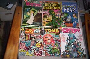 Lot of 6 70's Horror Comics, Magazine KALUTA,CORBEN ART