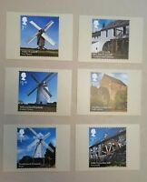 2017 WINDMILLS AND WATERMILLS ROYAL MAIL PHQ STAMP POST CARDS SET 6 NEW IN SLIP