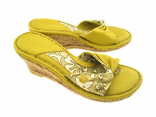 BORN DRILLES FABRIC & LEATHER UPPER SANDALS EUR 40.5 US 9 M/W ( MED./ WIDE )