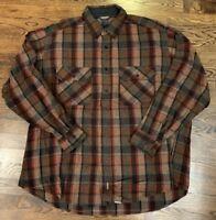WOOLRICH men's wool flannel shirt XL work camp plaid Thick