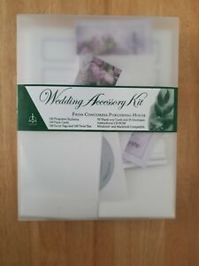 Wedding Accessory Kit. Programs, Place Cards, Favor Tags, ties, Thank You cards+