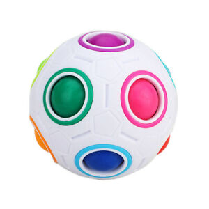 Stress Reliever Rainbow Magic Ball Plastic Cube Twist Puzzle Toys For Education