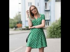 New Look Green Ditsy Mini Dress Size 6 SOLD OUT