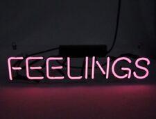 """14"""" FEELINGS Beer Bar Real Neon Light Sign Home Decor Handcraft Lamp Art Poster"""