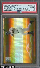 2005 Donruss Elite Gold Derek Jeter Yankees /100 PSA 9 MINT POP 2 ONLY 1 HIGHER