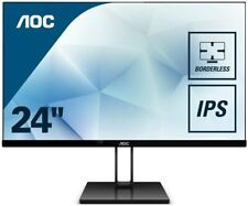 "AOC 24V2Q 23.8"" Widescreen IPS LED Black Monitor (1920x1080/5ms/HDMI/DP)"