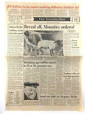 Vintage November 11 1977 Toronto Star Front Page Newspaper Alberta Oil K691